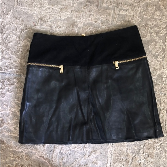 River Island Dresses & Skirts - Black leather & suede block skirt